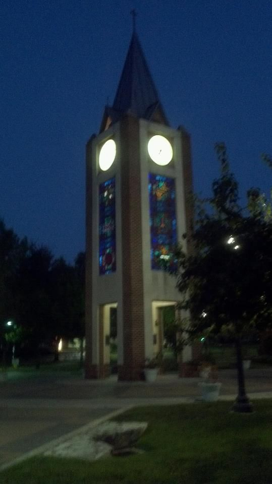 University Of The Incarnate Word Clock Tower Just Before Sunrise