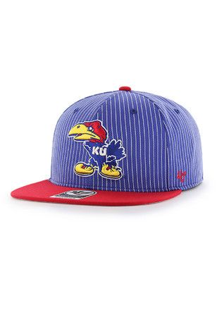 new style 22171 c50cd  47 KU Jayhawks Blue 1941 Woodside Hue Snapback Hat