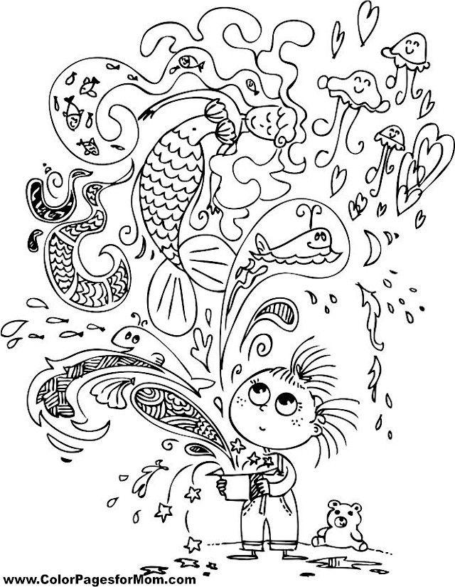mermaid11.jpg (640×825) | coloring | Pinterest | Cristales
