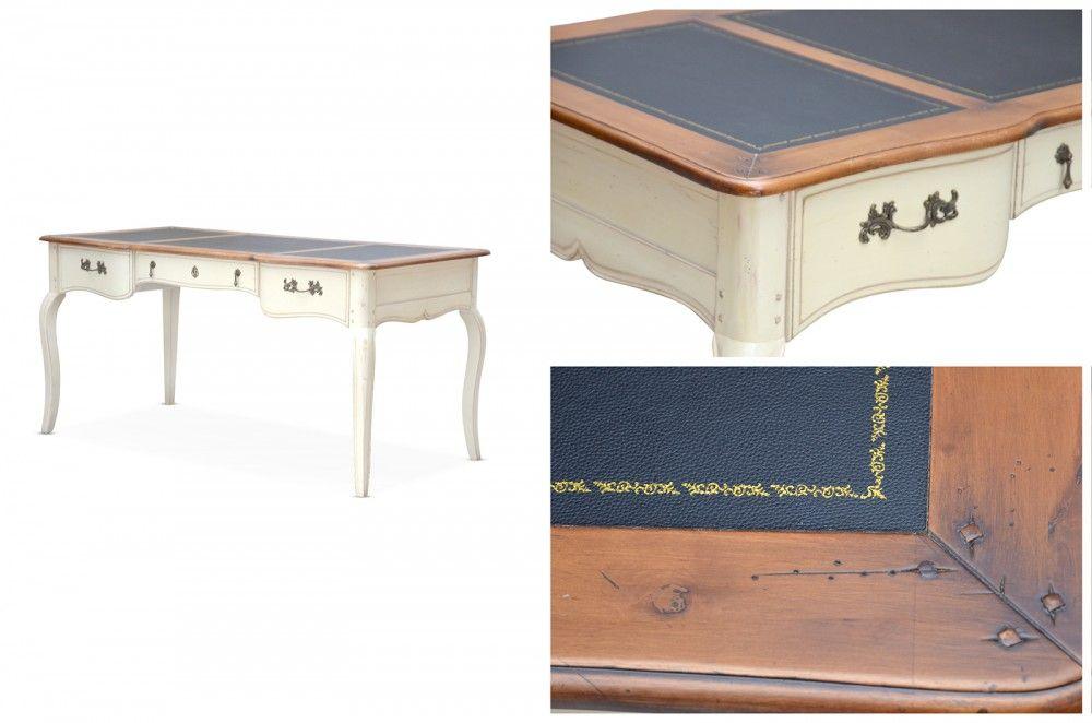 Schreibtisch vintage  Esstisch ausziehbar Vintage - Birke massiv - lackiert | Vintage ...