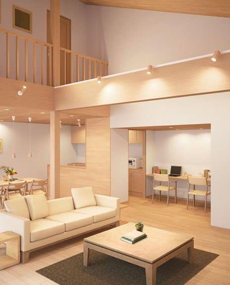 傾斜天井対応 Ledウッドスポット 全2色 吹き抜け 家 内装