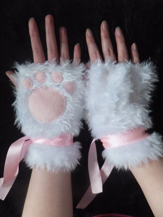 Cat gloves furry Fluffy cat's legs gloves cosplay party LNhUb2