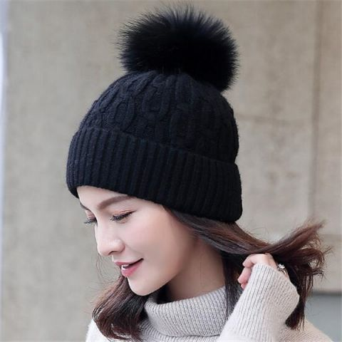 8df9e8b2 Pin by BUYHATHATS LIMITED on Winter warm knitted booble hat for women |  Pinterest | Hats, Knitted hats and Bobble hats