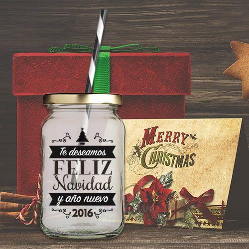 Frascos para bebidas, mason jars de Navidad - Decoraciones para