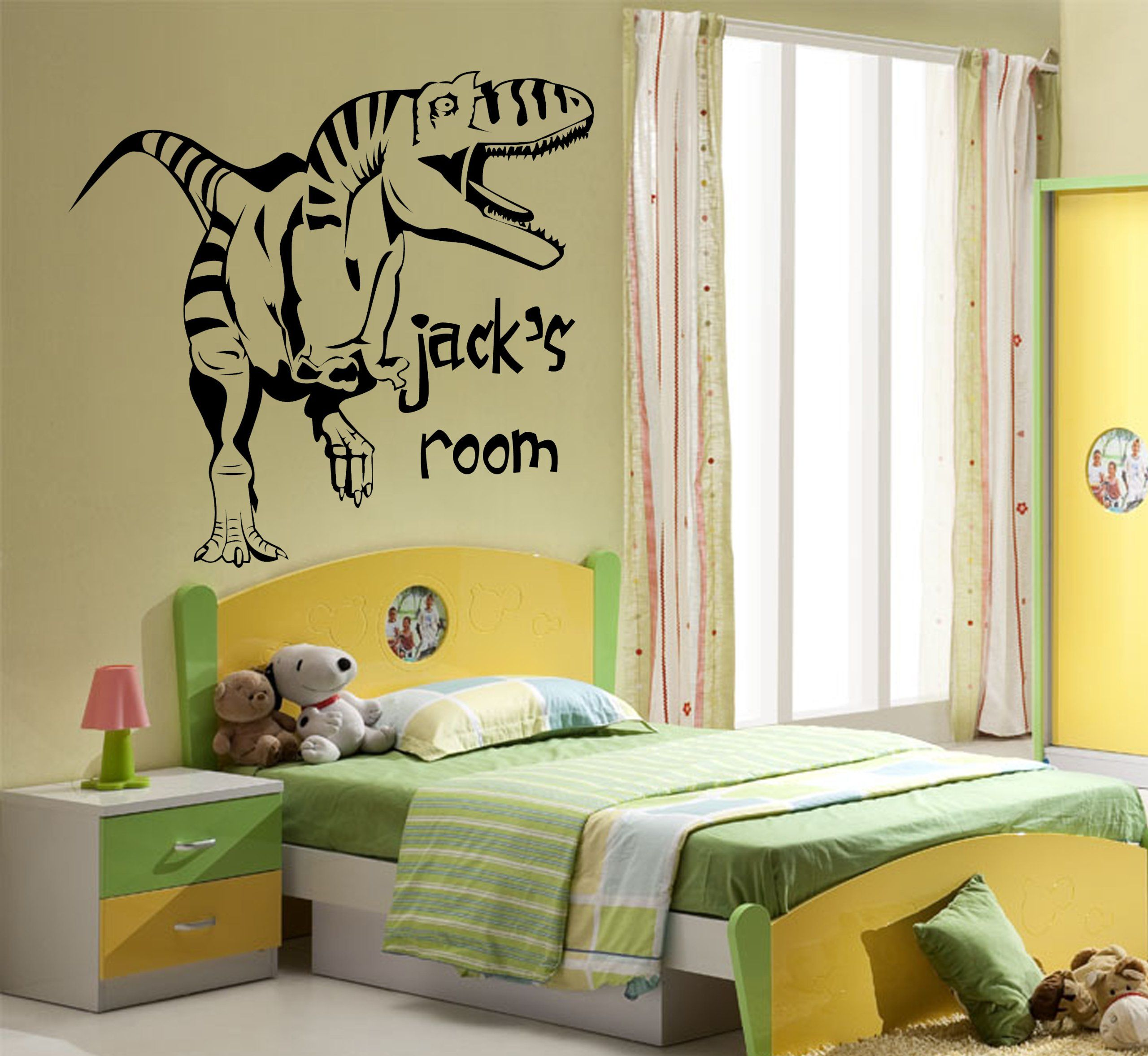 Wonderful Dinosaur Vinyl Wall Art Pictures Inspiration - The Wall ...