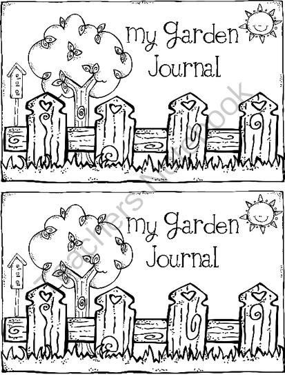 FREE Garden Journal Cover & Word Search from First Grade