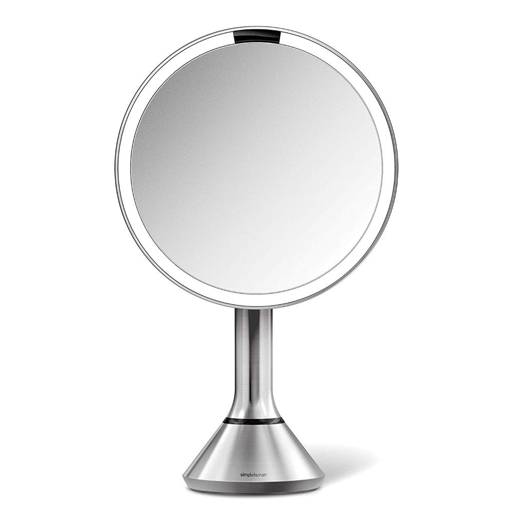 "simplehuman Sensor Lighted Makeup Vanity Mirror 8"" Round"