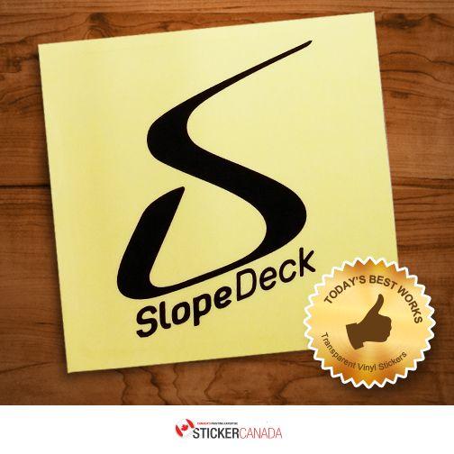 Slopedeck logo transparent vinyl stickers slopedeck transparentvinylstickers vinylstickers stickerqualityprinting stickerprinting