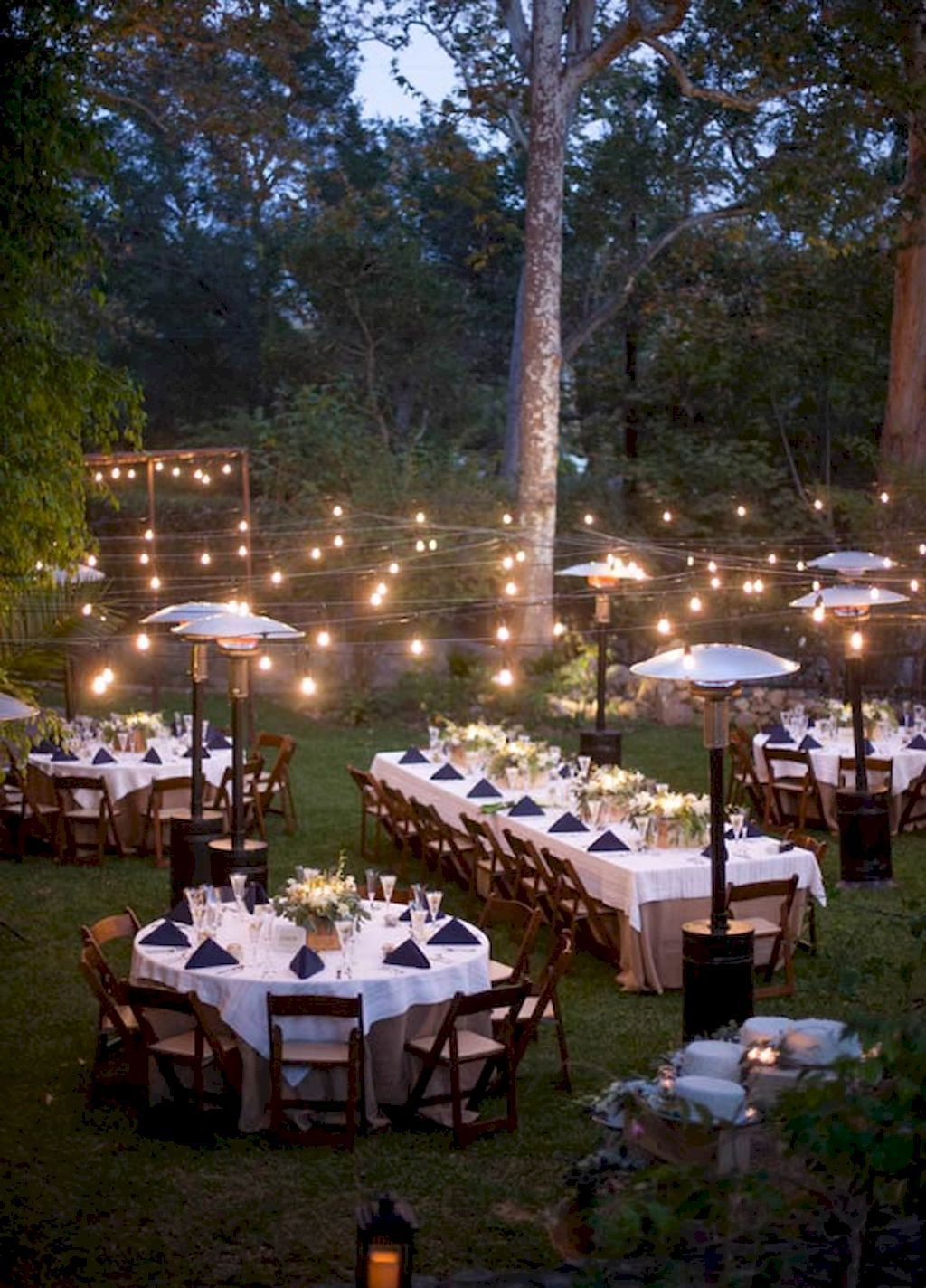 Outdoor garden wedding decoration ideas   Inexpensive Backyard Wedding Decor Ideas in   wedding and