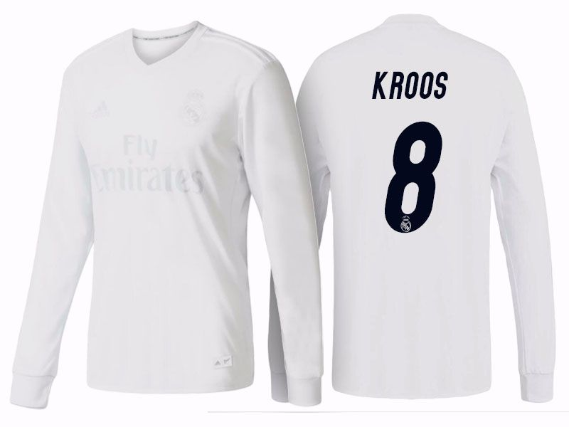 watch 2ac9a e10f4 Real Madrid #8 Toni Kroos 2016-17 Parley LS Jersey | Real ...