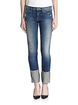MOTHER Pony Boy Distressed Jeans