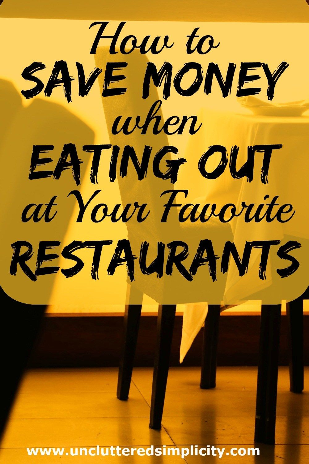 12 Ways to Save Money When Eating Out at a Restaurant