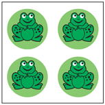 Frog stickers for inventive charts! www.shapesetc.com