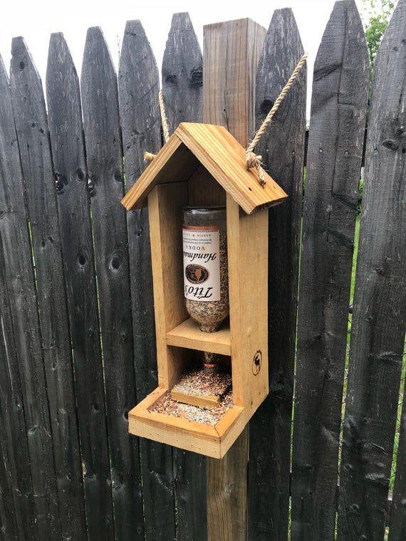 Rustic Bird Feeder, Reclaimed Wood, Tito's Birdfeeder, Upcycled, Garden Gifts, Bird Enthusiasts, Gift Ideas, Housewarming Gift, Nature Lover -   - #Bird #Birdfeeder #Enthusiasts #Feeder #Garden #Gift #Gifts #Housewarming #Ideas #Lover #nature #palettengartensichtschutz #Reclaimed #Rustic #Titos #Upcycled #Wood