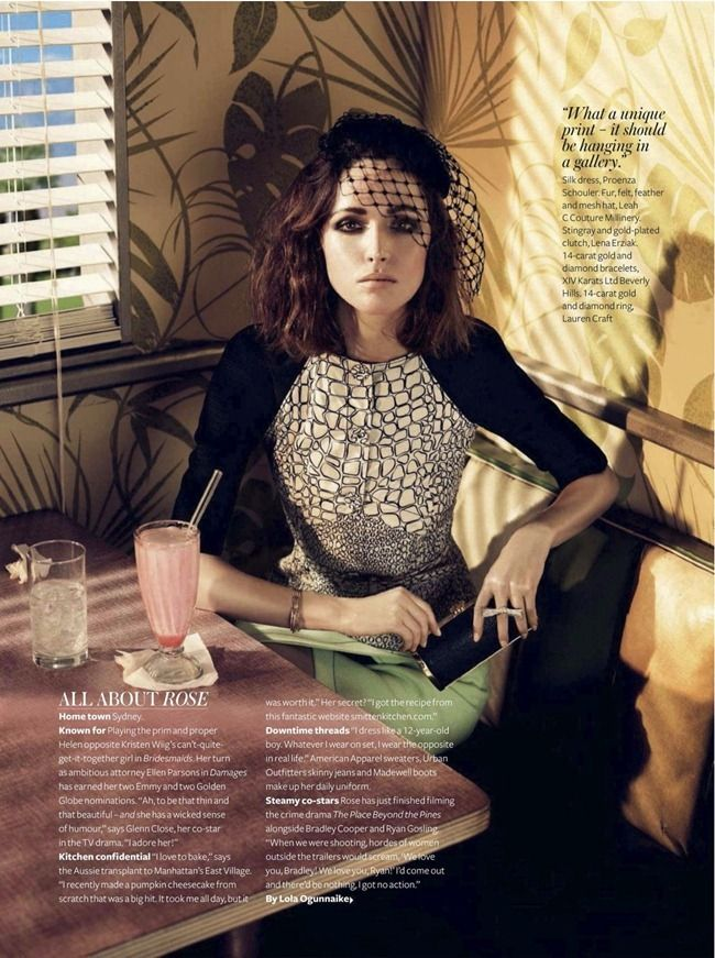 """INSTYLE MAGAZINE: ROSE BYRNE IN """"BYRNE BABY BURN"""" BY PHOTOGRAPHER GIAMPAOLO SGURA"""