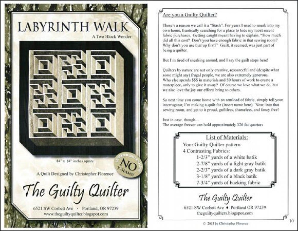 Labyrinth Walk Quilt Pattern Labyrinth Walk A Two Block Wonder Gorgeous Labyrinth Walk Quilt Pattern Free