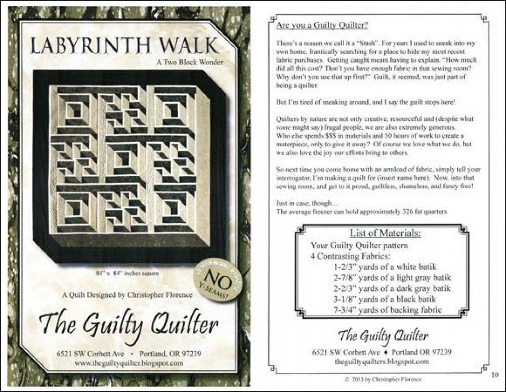 Labyrinth Walk Quilt Pattern Labyrinth Walk A Two Block