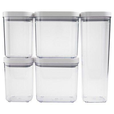 Oxo Pop 5pc Airtight Food Storage Container Set Airtight