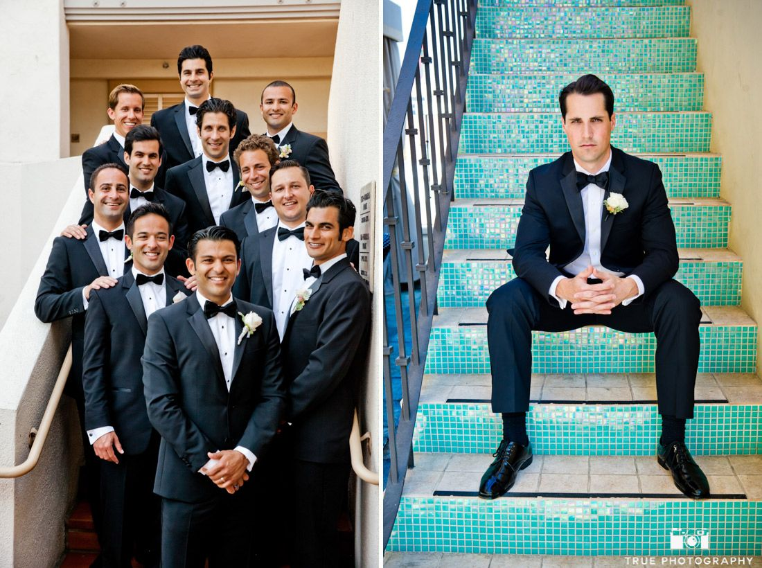 Groom in Black Tuxedo #weddingphotography / follow @TruePhotography ...