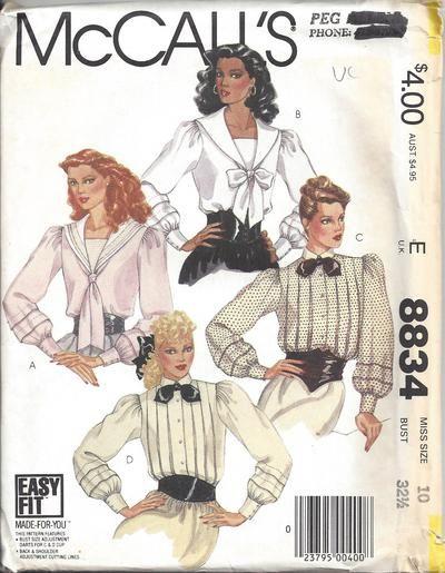 MOMSPatterns Vintage Sewing Patterns - McCall\'s 8834 Vintage 80\'s ...