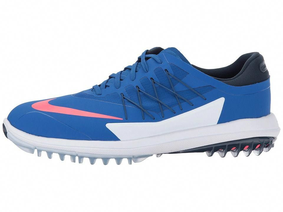 1ded4a5e76ef Nike Golf Lunar Control Vapor Men s Golf Shoes Blue Jay Solar Red Armory  Navy