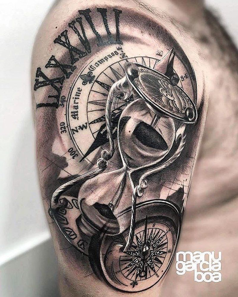 Sanduhr tattoo unterarm mann Tattoo Oberarm