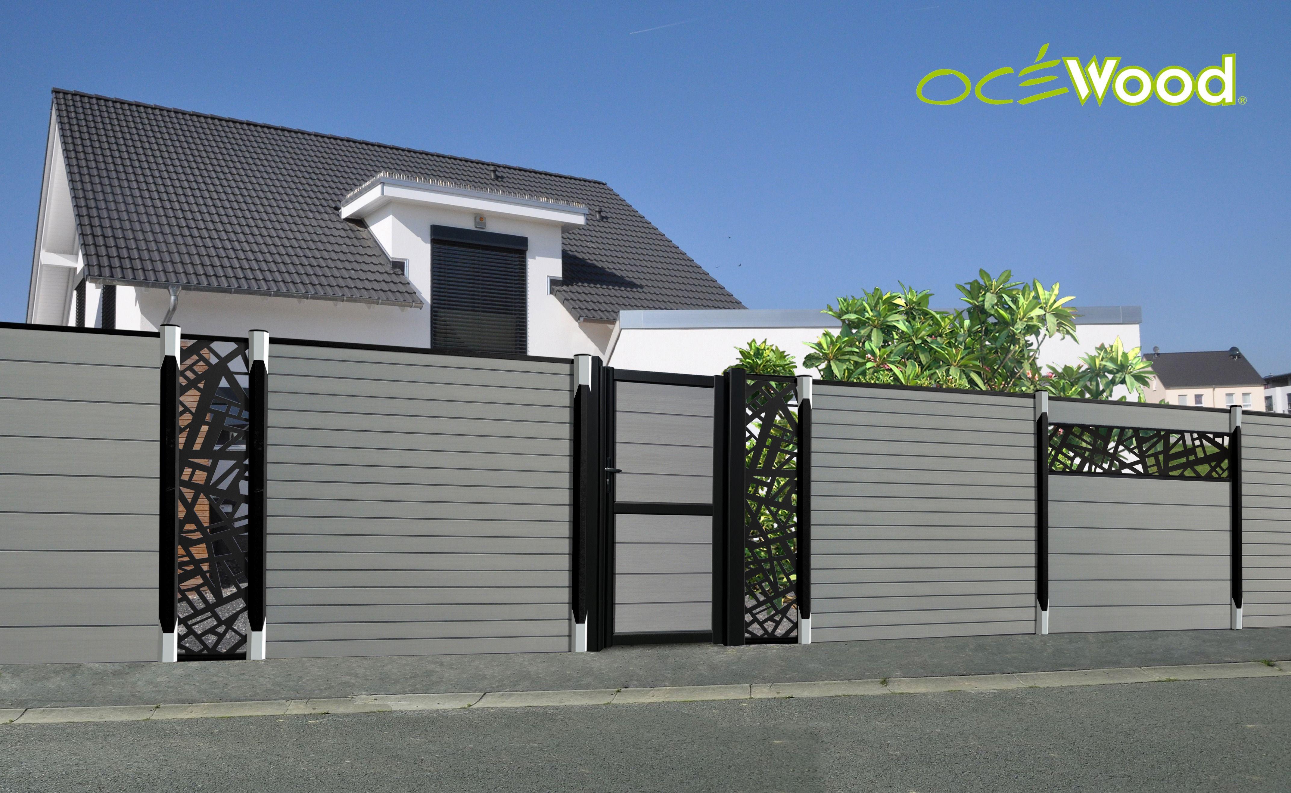Cloture En Bois Composite Et Pvc Recycle Ocewood Lame