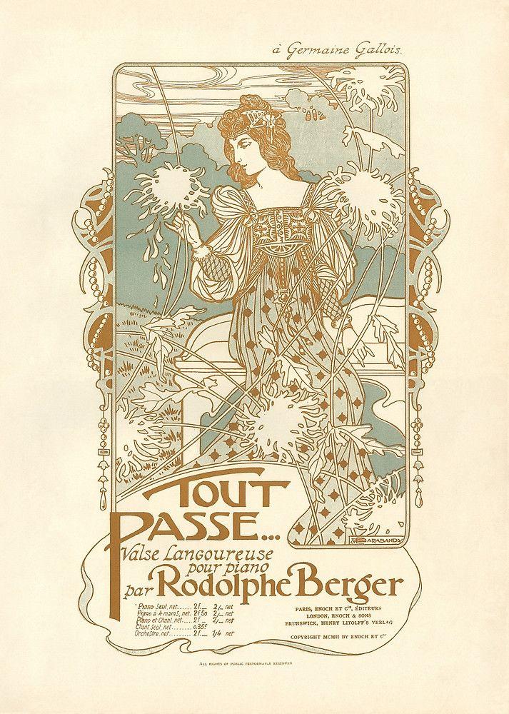 Art Nouveau Sheet Music Cover
