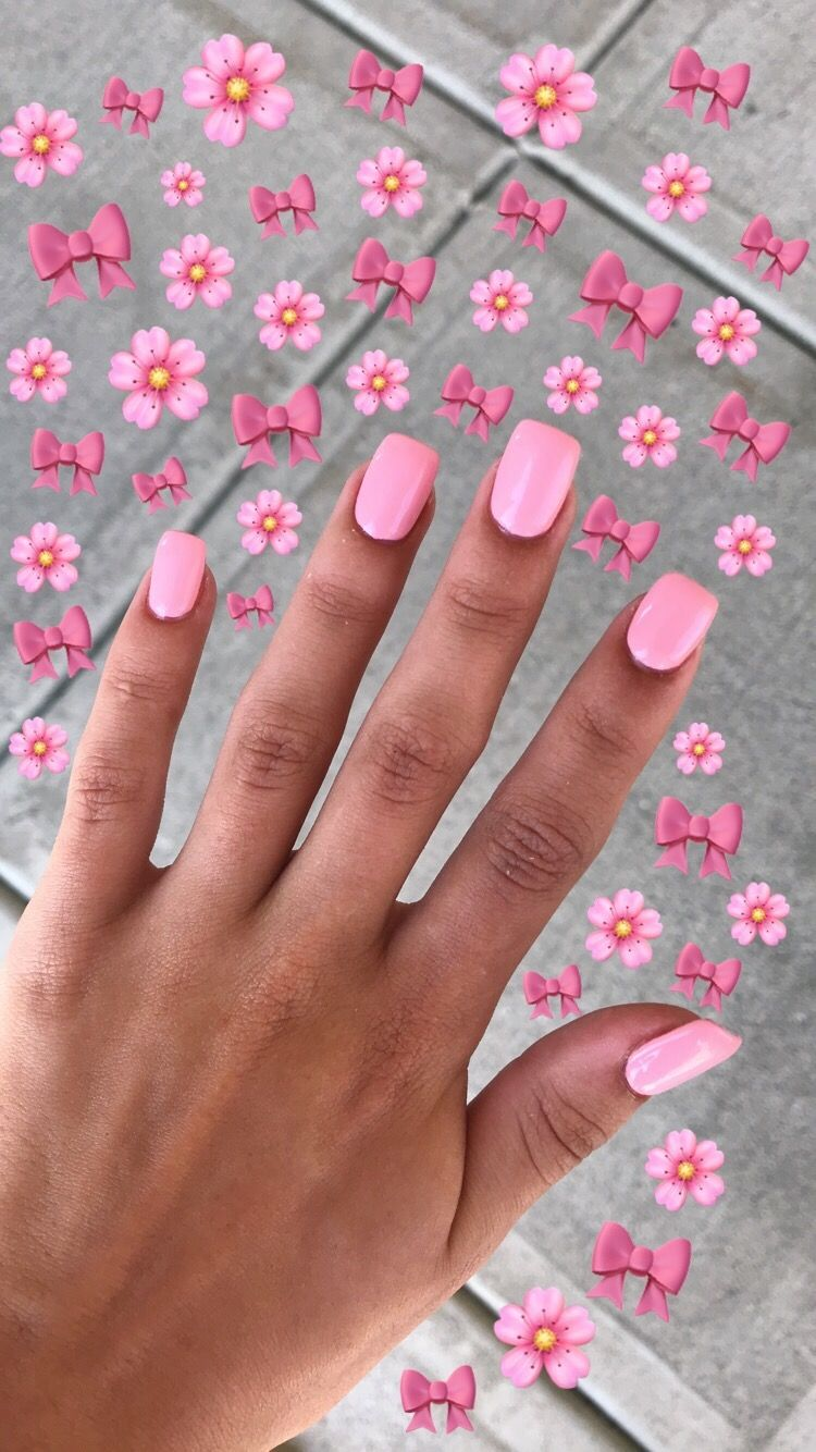 Vsco Lexatavarez Pink Nails Coffin Nails Designs Short Acrylic Nails