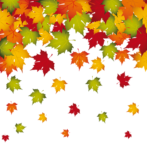 Transparent fall leaves decoration png image planner for Decoration leaves