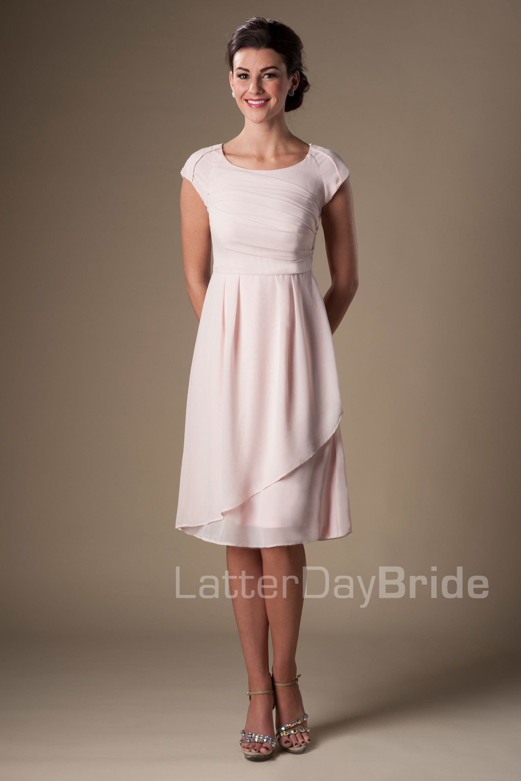 chloe Modest Bridesmaid Dresses MDS 2145