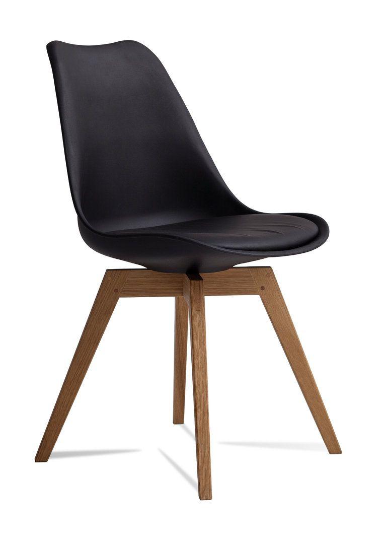Tenzo Stuhl Bess Schwarz Eiche (2er Set) | Stühle