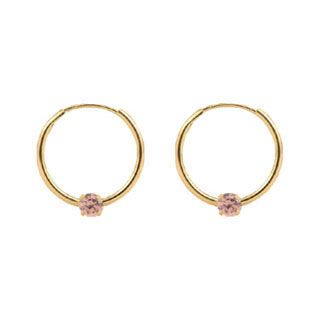 7248e860e 14K Gold Child's Pink CZ Screw Back Stud Earrings - Gemologica, A ...
