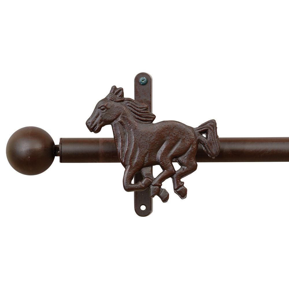 Consider This Horse Curtain Rod Holders For Your WesternHome