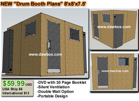 Groovy Dawbox Drum Booth Plans 8X8X7 59 99 Recording Studio Largest Home Design Picture Inspirations Pitcheantrous