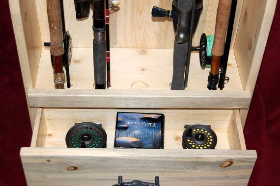 Fishing Rod Rack Built of Beetle Killed Pine by RmcCustomWoodworks