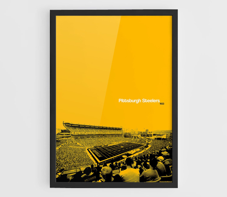 Pittsburgh Steelers, Heinz Field - A3 Wall Art Print NFL Poster ...