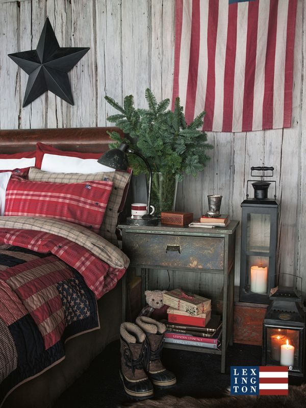 holiday company americana bedroom collection lexington decor christmas primitive bedrooms read guest country plaid