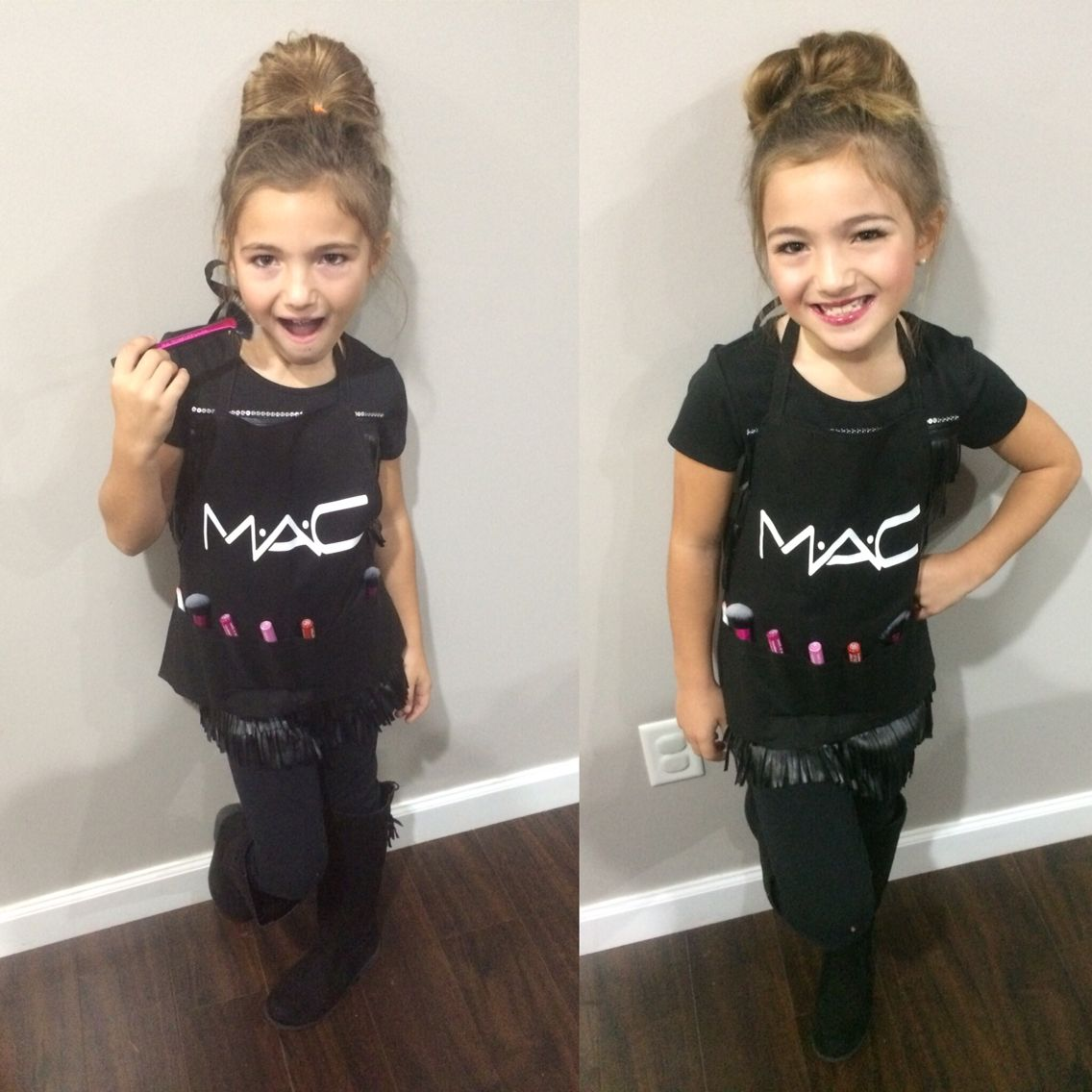 MAC professional makeup artist outfit for career day,school