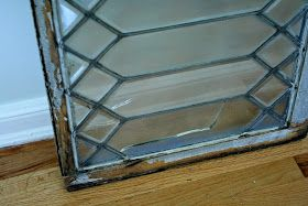 I acquired an old leaded-glass window by way of my parents, and quickly destroyed it.  Actually, several of the panes were already cracke...