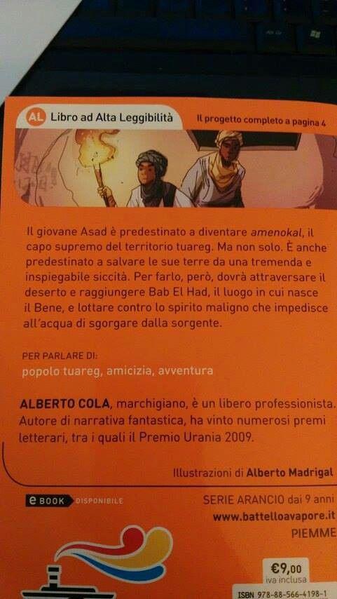 Quarta di copertina romanzo Alberto Cola
