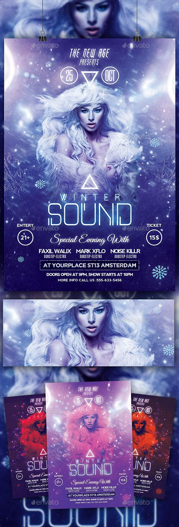Modern Winter Sound Flyer Template Psd Design Download Http