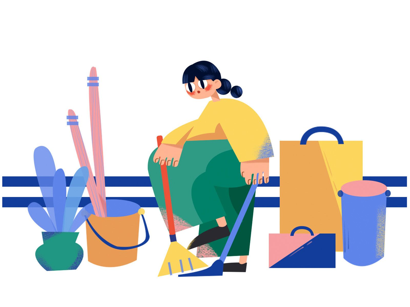 clean   Illustration, Cleaning, Graphic illustration