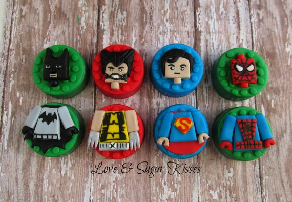Fondant topped chocolate covered Oreos by lovesugarkisses on Etsy, $36.00