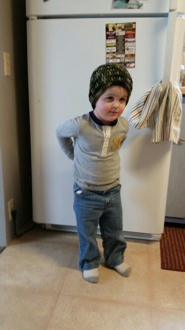 Little boys camouflage hat