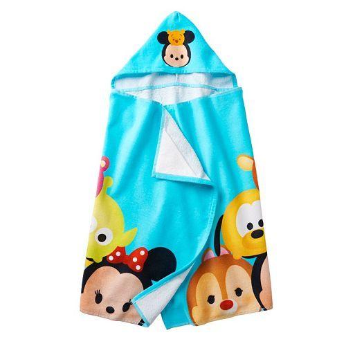 Disney S Tsum Tsum Hooded Towel Towel Girl Bath Girls Blue Towels