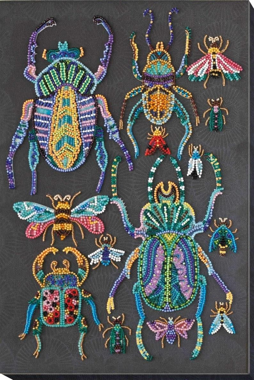 Beaded Embroidery Kit Dragon Beaded stitching Beads needlepoint Beadwork SIY