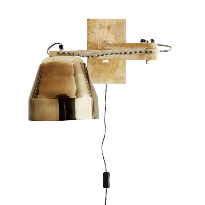Lámpara pared Brass Shade