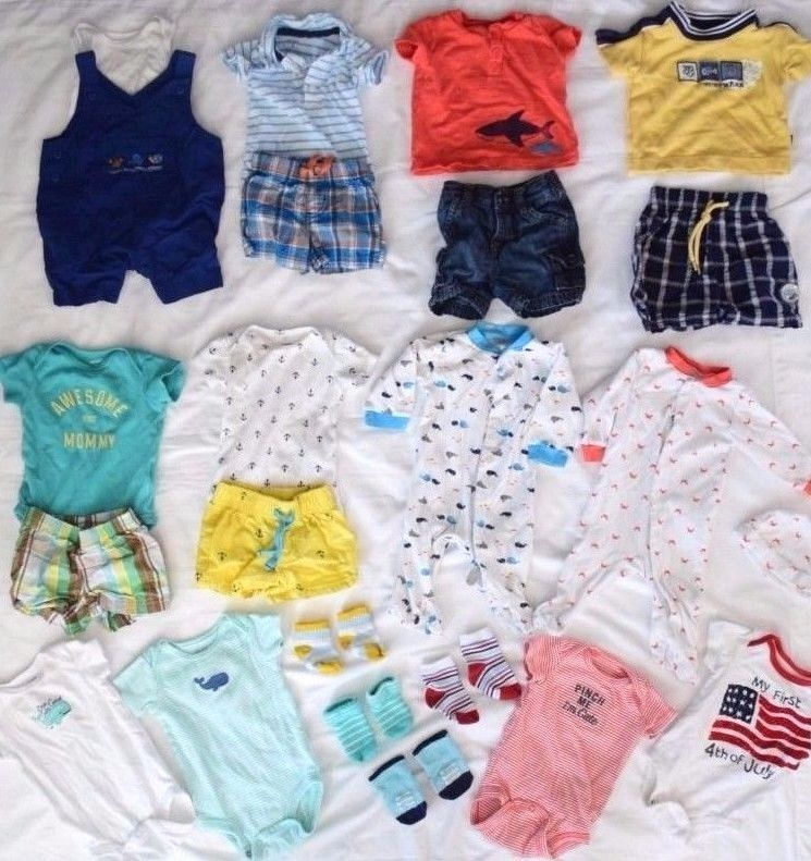Nice Guc 23pc 0 3 3 Month Baby Boy Clothes Lot Summer Nautical Surf