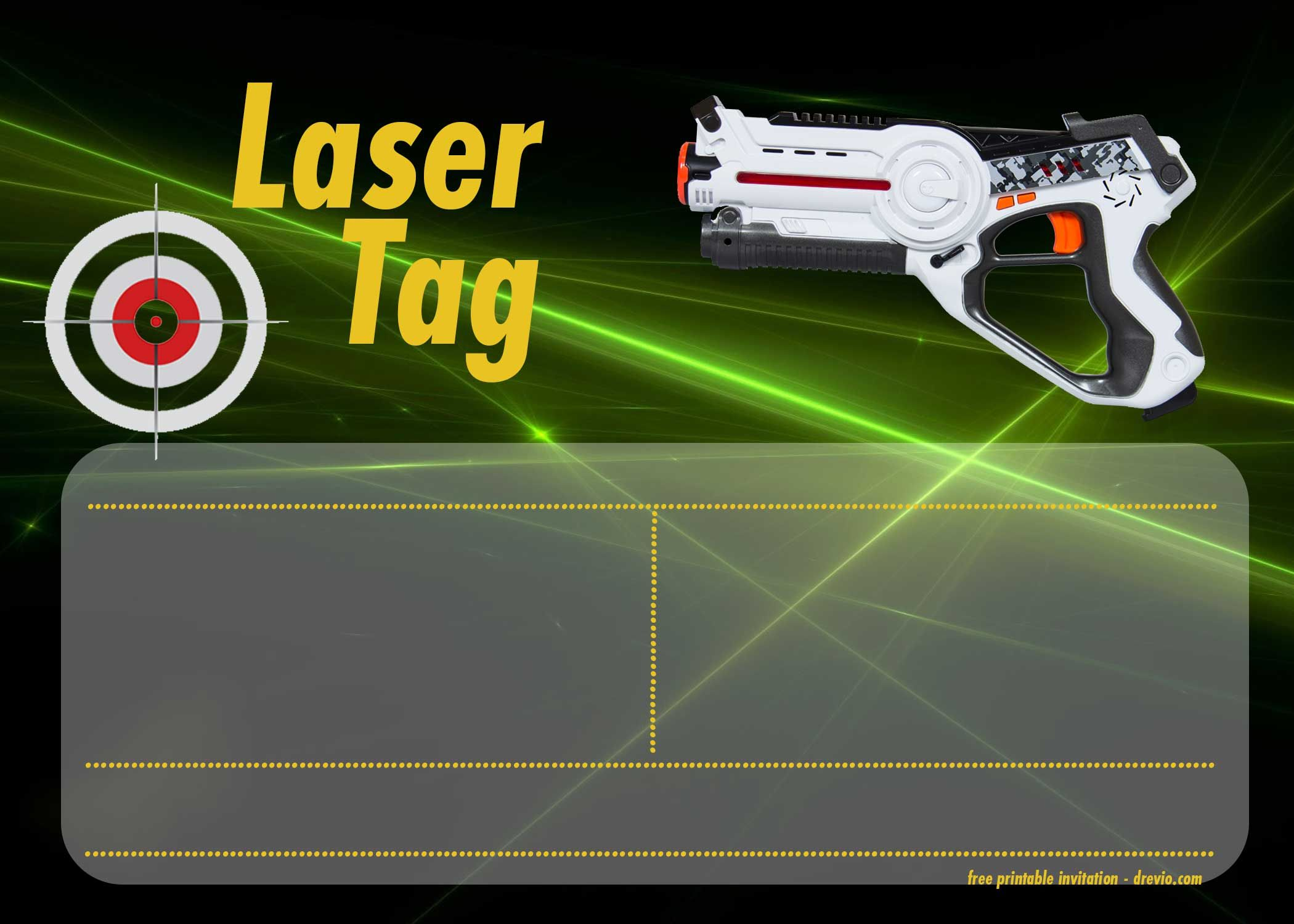 image about Laser Tag Invitations Free Printable named Free of charge Printable Laser Tag Invitation Templates Cost-free